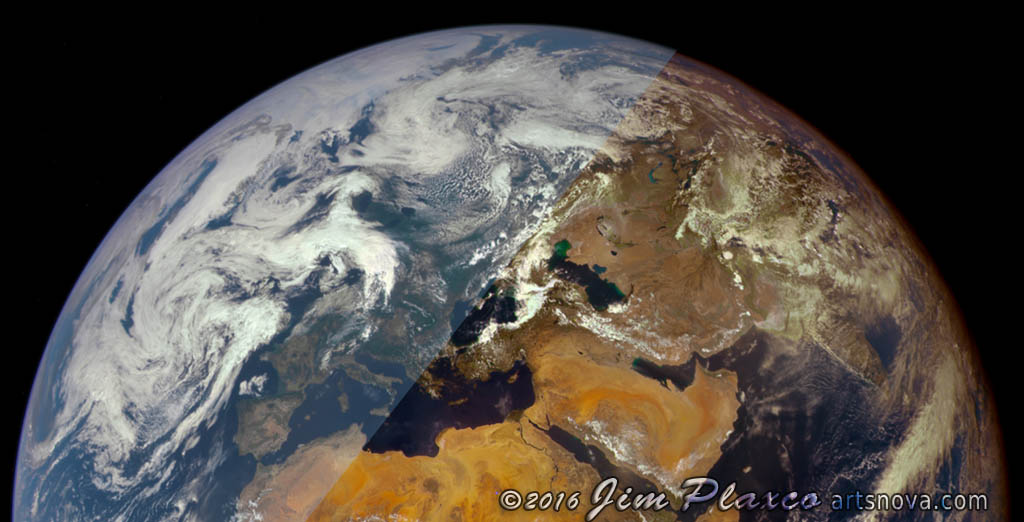 Planet Earth Apollo Image RGB Composite Enhanced