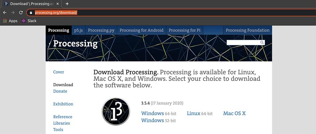 Processing download web page