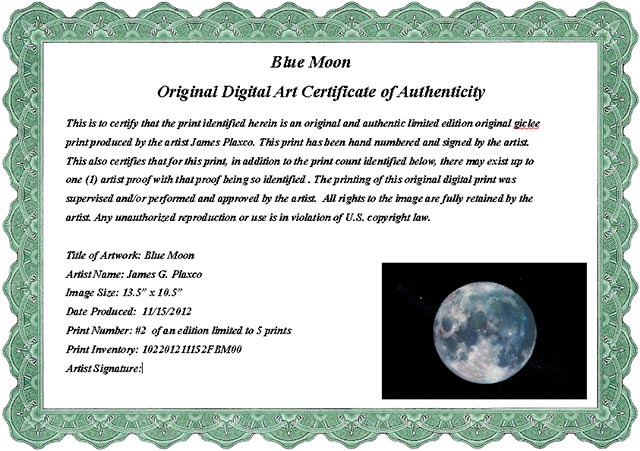 Sample art certificate of authenticity for Limited edition print certificate of authenticity template